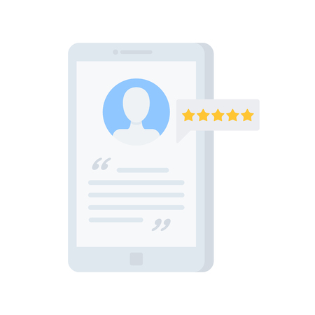 bad service: User review vector illustration