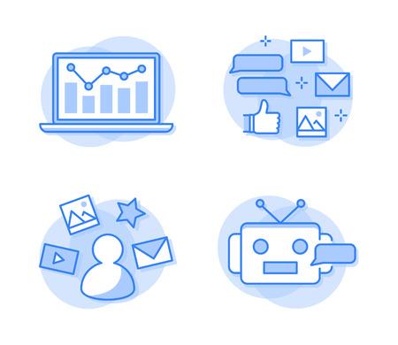 Social media network icons Vector Illustration