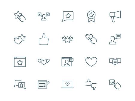 reviews: User reviews icons set