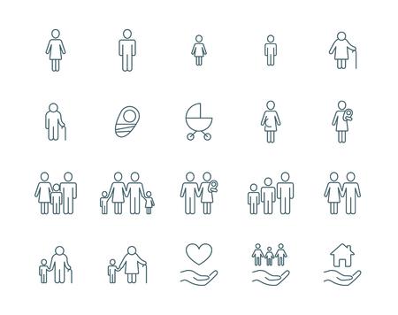 Familie vector iconen