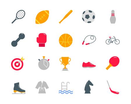 Sport color icons set