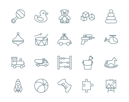psp: Toys set of vector icons Stock Photo