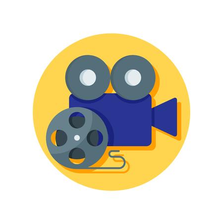 Film projector vector icon