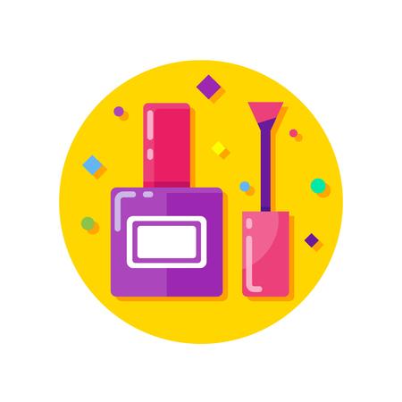 Nail polish vector icon Illustration