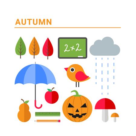 Autumn concept vector illustration Illustration