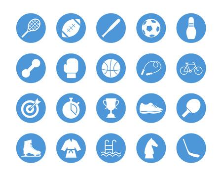 Sports circular icons set