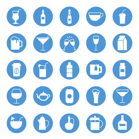 squeezer: Drinks circular icons set
