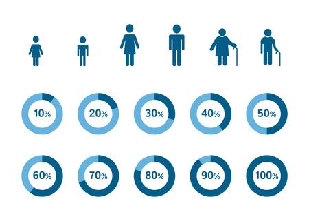 demografia: Demography infographic elements