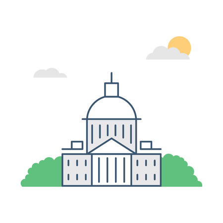 Government building vector illustration