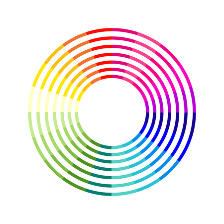Segmented color chart Illustration