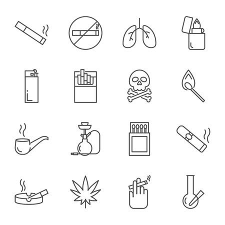 Roken set van vector iconen