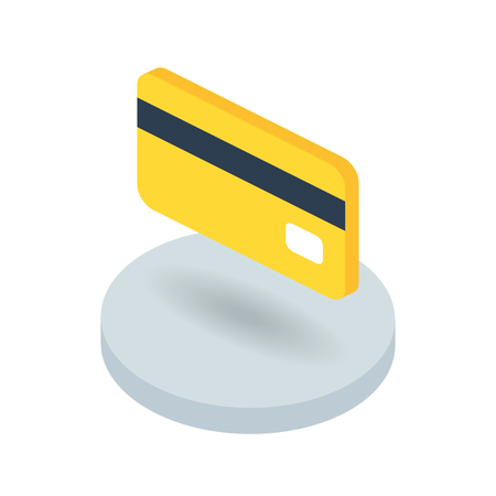 Bank card isometric vector icon Vectores