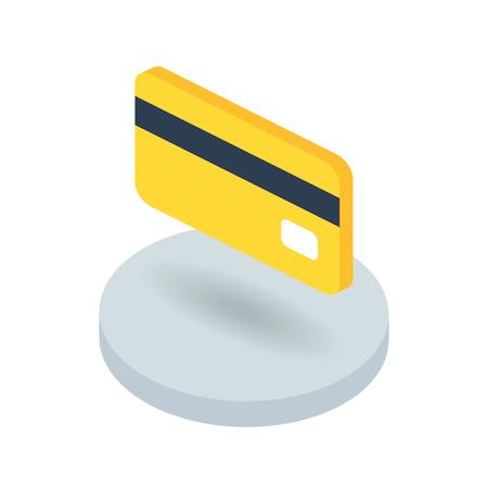 Bank card isometric vector icon Ilustração