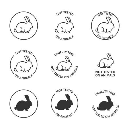 Non testé sur les animaux, icônes sans cruauté