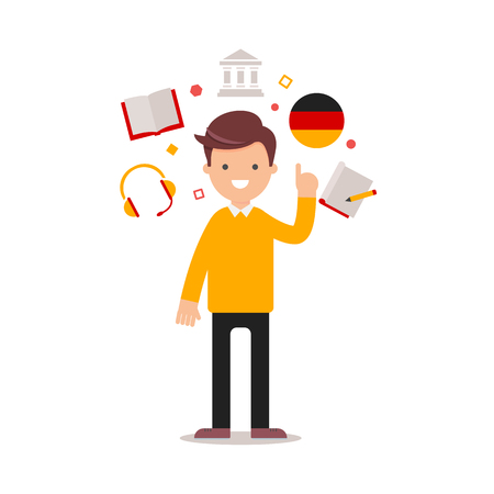 Language learning German teacher Stock Photo - 106363100