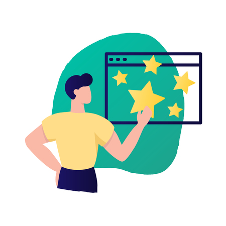 Customer experience, review vector illustration