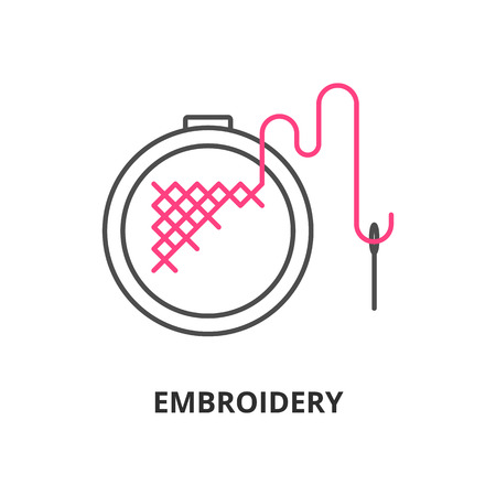 Embroidery vector icon
