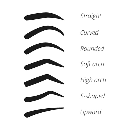 Eyebrow shapes vector set
