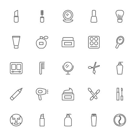 Cosmetics vector icons set