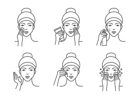 Cura della pelle, procedure di pulizia del viso
