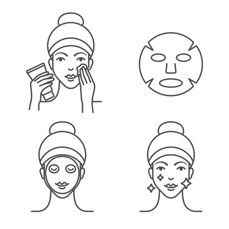How to use a sheet mask, steps.