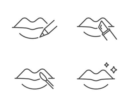 Lips makeup, vector illustration.