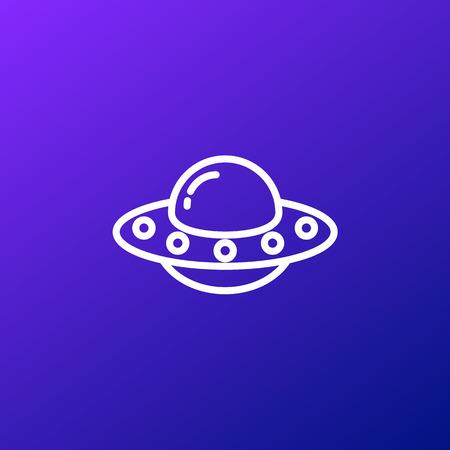 Icône OVNI, illustration vectorielle