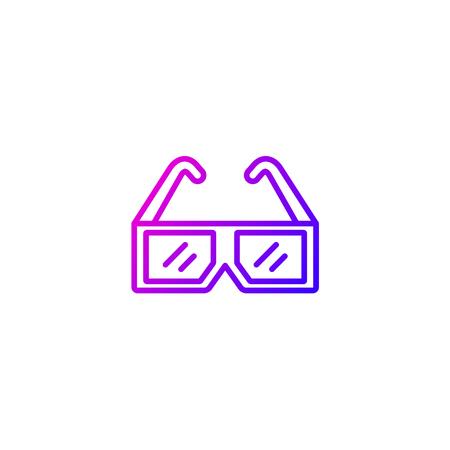 Icône de vecteur de lunettes 3D Vecteurs