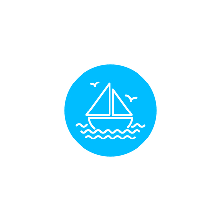 Sailing ship icon, vector illustration
