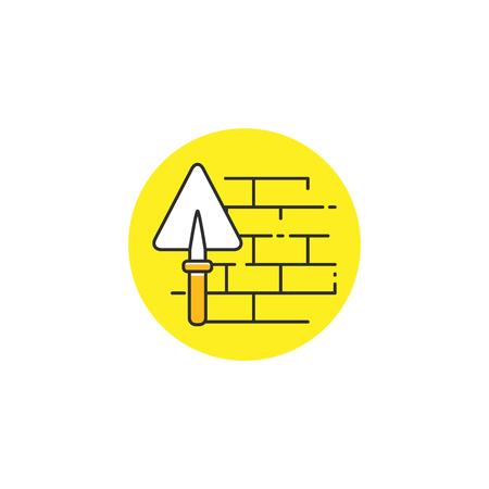 Wall construction vector icon