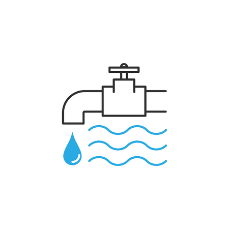 Water tap icon 向量圖像