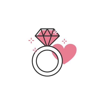 Engagement ring icon Banque d'images - 124770887