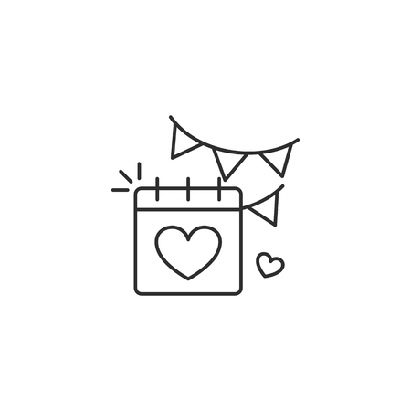Calendar with heart icon