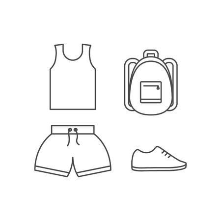 Sportswear vector set
