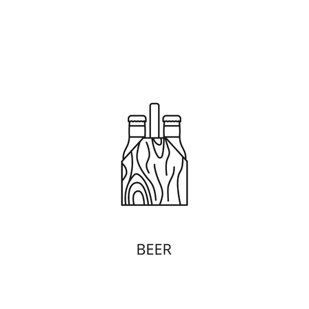 Beer vector icon, outline style, editable stroke