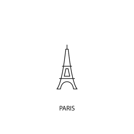 Paris vector icon, outline style, editable stroke