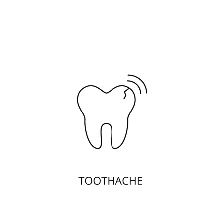 Toothache vector icon, outline style, editable stroke