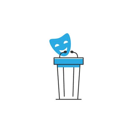 Político, icono de vector de juegos políticos