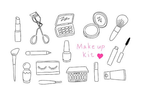 Make up kit hand drawn icons