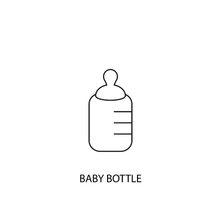 Baby bottle vector icon, outline style, editable stroke