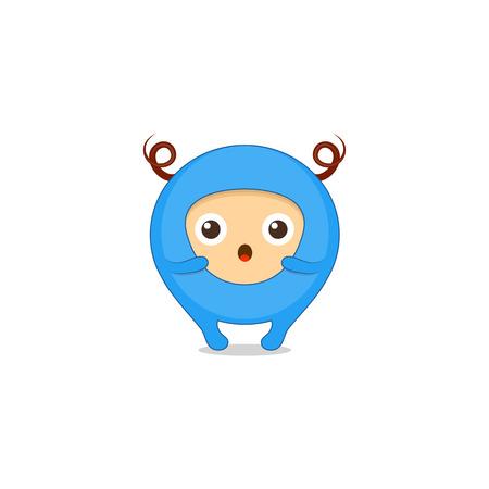 Surprised sticker, emoji, character design