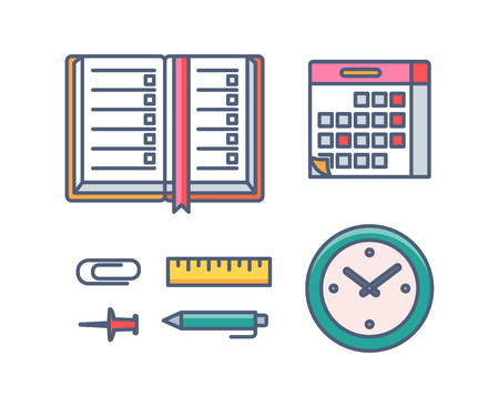 Stationery vector icons editable stroke