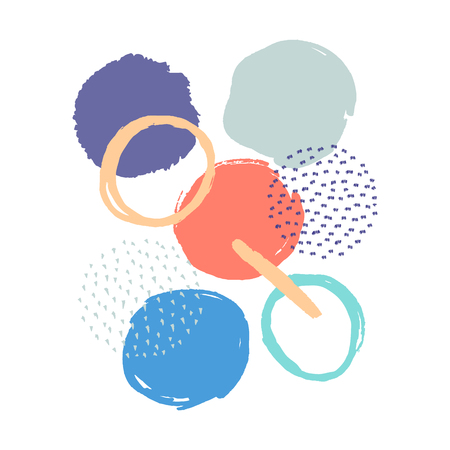 Abstract background with circles Ilustração Vetorial