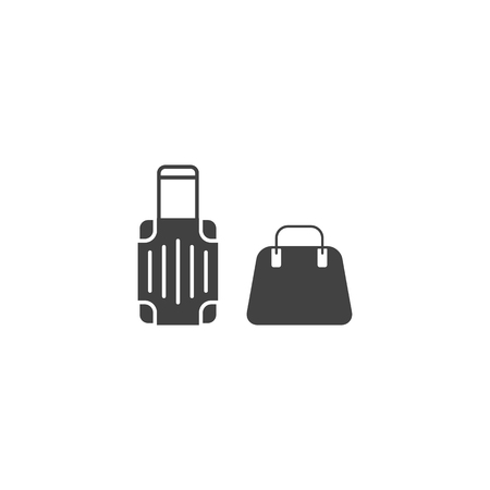 Baggage and hand luggage symbol