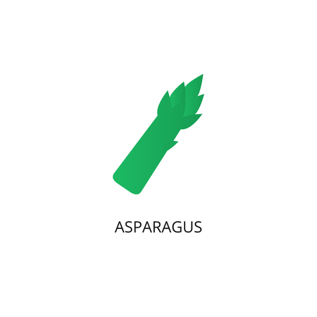 Asparagus vegetable flat vector icon
