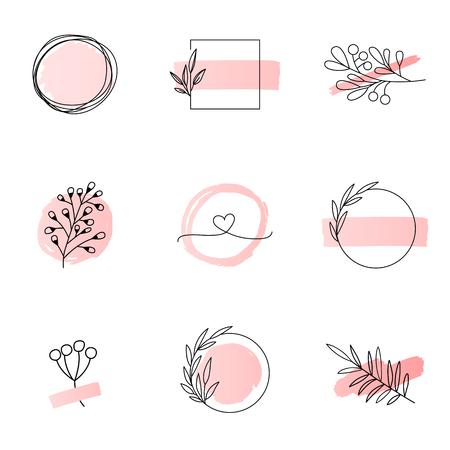 Modèles de logo floral style féminin