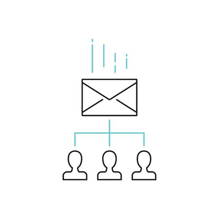 Email marketing vector icon outline style Иллюстрация