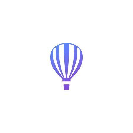 Hot air balloon vector icon