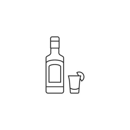 Tequila vector icon outline style Ilustracja