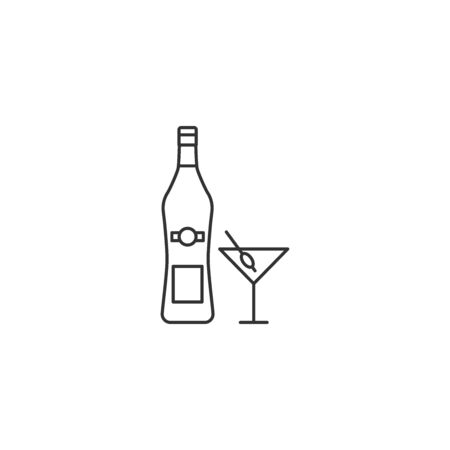 Martini vector icon outline style